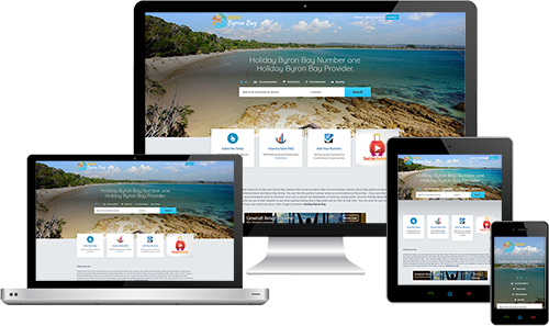 Holiday Byron Bay displayed beautifully on multiple devices